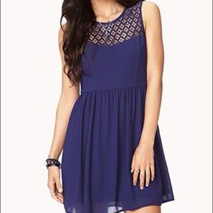 Forever 21 Crochet Yoke Dress